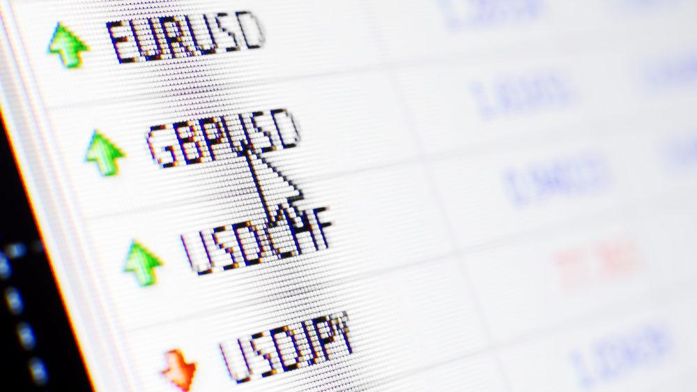 パソコン画面に表示された通貨ペア一覧を拡大した画像