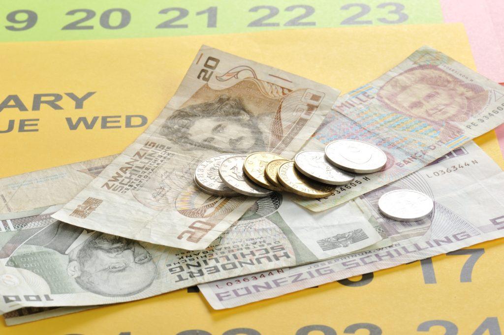 お金とカレンダー